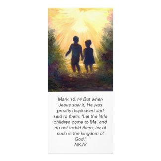 MARQUE el 10:14 en el jardín, tarjeta de la escrit Tarjeta Publicitaria Personalizada