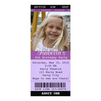 Marque la foto púrpura de la invitación - teatro