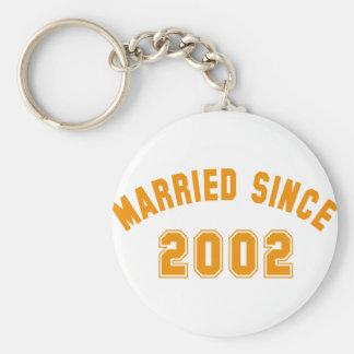 married since 2002 llavero redondo tipo chapa