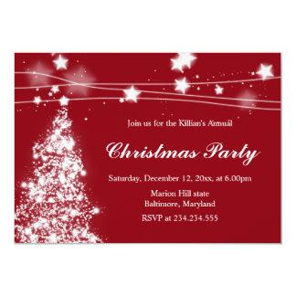 Marrón brillante de la fiesta de Navidad de las Invitación 12,7 X 17,8 Cm
