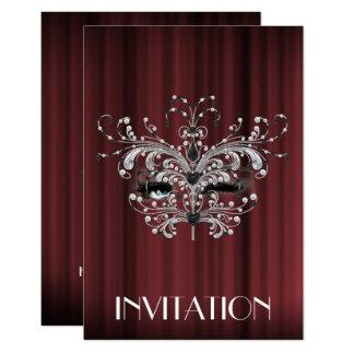 Marrón de Borgoña de la plata de la sorpresa de Invitación 8,9 X 12,7 Cm