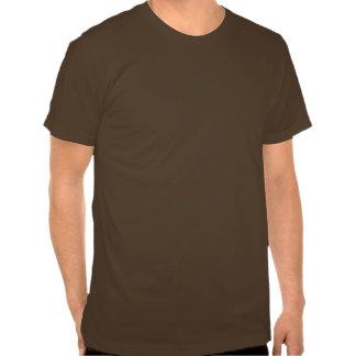 Marrón de la pistola recta camiseta