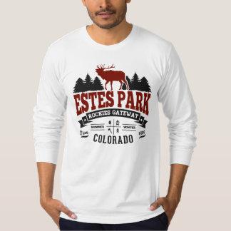 Marrón del vintage del parque de Estes Camiseta