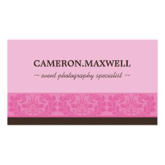 Marrón rosado de lujo lindo elegante de la TARJETA Tarjetas De Visita