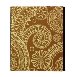 Marrón y oro Paisley pattern png