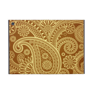 Marrón y oro Paisley pattern png iPad Mini Cárcasa