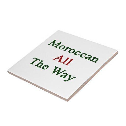 Marroquí hasta el final tejas