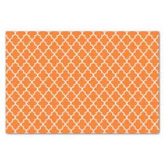 Marroquí moderno Quatrefoil del naranja y blanco Papel De Seda