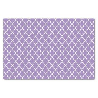 Marroquí púrpura violeta moderno Quatrefoil Papel De Seda