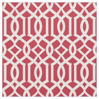 Marroquí rojo elegante del enrejado del enrejado tela