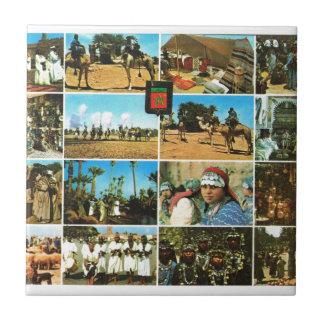 Marruecos, África del Norte, multiview de Marrakes Azulejo Ceramica