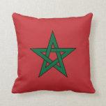 Marruecos - bandera marroquí cojines