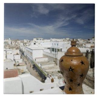 MARRUECOS, costa atlántica, ESSAOUIRA: Alto ventaj Azulejo Cuadrado Grande