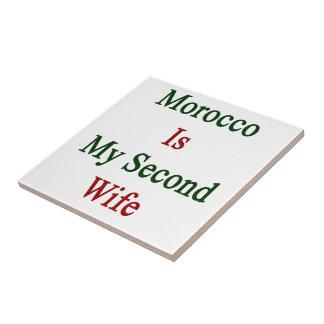 Marruecos es mi segunda esposa tejas  ceramicas