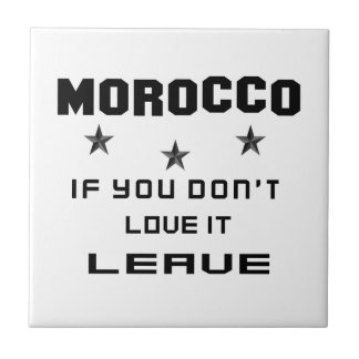 Marruecos si usted no lo ama, se va azulejo cuadrado pequeño