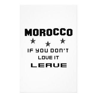 Marruecos si usted no lo ama, se va papelería personalizada