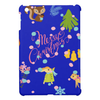 Marry Christmas pattern blue