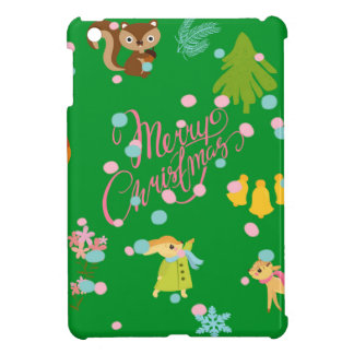 Marry Christmas pattern green