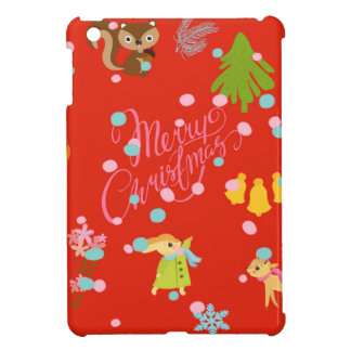 Marry Christmas pattern red