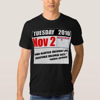 ¡Martes 2 de noviembre de 2010 - llamadas del Camiseta