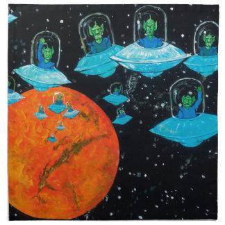 Martian están enojados servilleta de tela