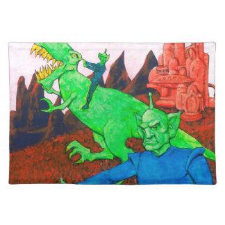 Martian y T-Rex Salvamanteles