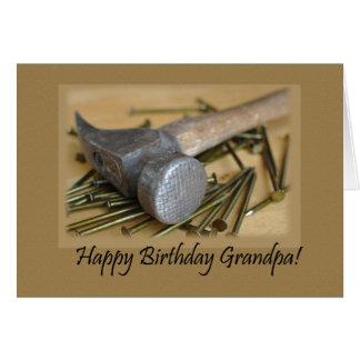 Martillo y abuelo del feliz cumpleaños de los tarjeta