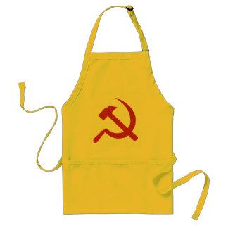 martillo y hoz de URSS del cccp Delantal