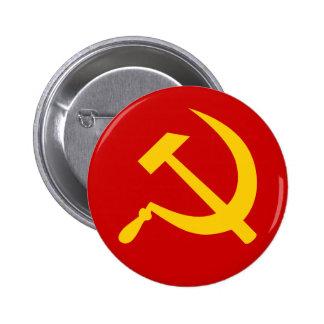 Martillo y hoz rusos comunistas de URSS Chapa Redonda De 5 Cm