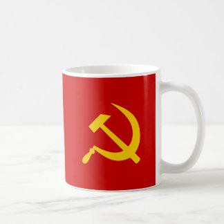 Martillo y hoz rusos comunistas de URSS Tazas