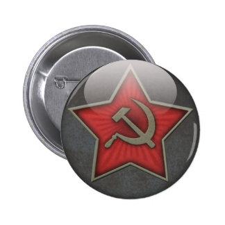Martillo y hoz soviéticos de la estrella chapa redonda de 5 cm
