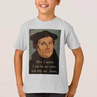 Martin Luther aquí coloco 95 tesis religiosas Camiseta