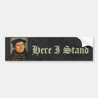 Martin Luther aquí coloco la cita Pegatina Para Coche