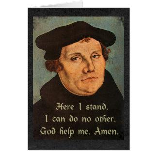 Martin Luther - aquí me coloco Felicitación