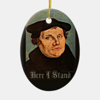 Martin Luther aquí que me coloco Adorno Navideño Ovalado De Cerámica