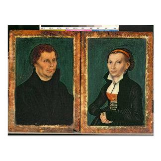 Martin Luther, Katharina von Bora, c.1526 Postal