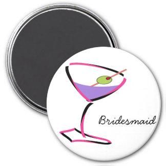 martini rosado enrrollado iman de frigorífico