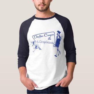 martini y música - azul camiseta