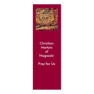 Mártires cristianos de la etiqueta del regalo de tarjetas de visita mini