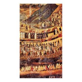Mártires cristianos de la tarjeta clasificada tarjetas de visita