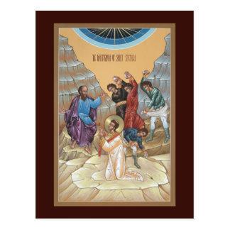 Martirio de la tarjeta del rezo de St Stephen