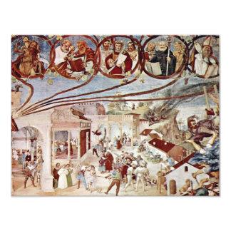 Martirio de St. Clare por la loteria Lorenzo (el Invitación 10,8 X 13,9 Cm