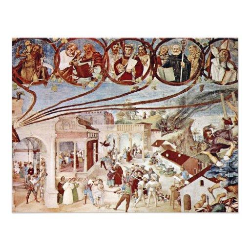 Martirio de St. Clare por la loteria Lorenzo (el m Invitación