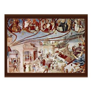 Martirio de St. Clare por la loteria Lorenzo (el Postal