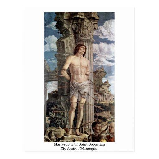 Martirio San Sebastián de Andrea Mantegna Postales