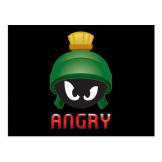 MARVIN el MARTIAN™ Emoji enojado Postal