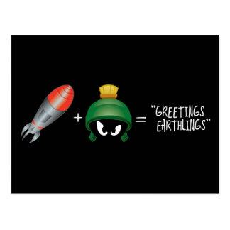 MARVIN la ecuación de MARTIAN™ Emoji Postal