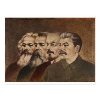 Marx, Engels, Lenin, y Stalin Postal