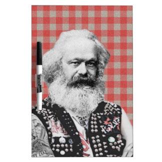 Marx punky pizarra blanca