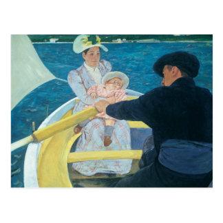 Mary Cassatt - el fiesta del canotaje Postal